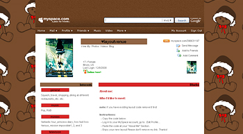 santa doll myspace layouts 2.0