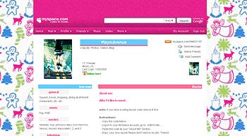 xmas angels myspace layouts 2.0