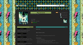 stripe diamond blue green myspace layouts 2.0