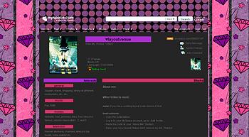 stripe pink diamond myspace layouts 2.0