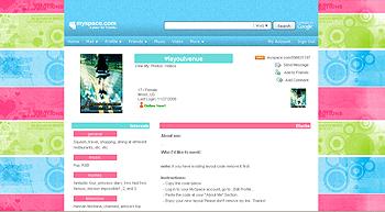 sweet pastel stripe myspace layouts 2.0