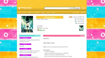 yellow orange stripe myspace layouts 2.0