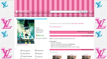 luis vuitton   default myspace layouts