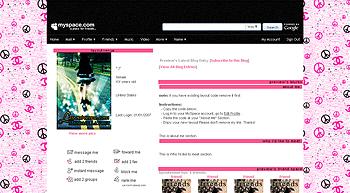 peace channel default myspace layouts