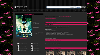 pink hollister default myspace layouts