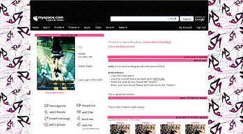 sandals default myspace layouts