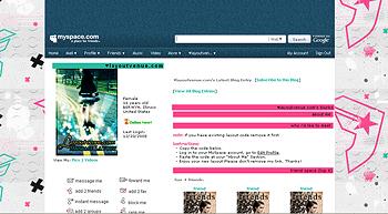 stripe and famous   default myspace layouts