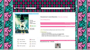 heart diamond default myspace layouts