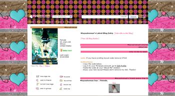heart star default myspace layouts