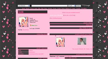 pinkish default myspace layouts
