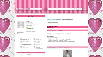 pinky heart default myspace layouts
