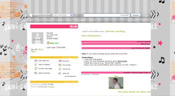 music skull default myspace layouts