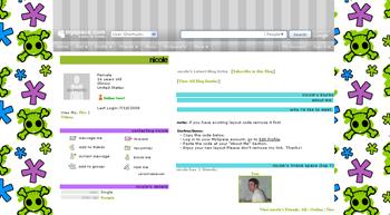 purple green skull default myspace layouts