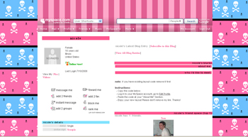 skull    default myspace layouts