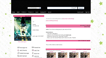 stars    default myspace layouts