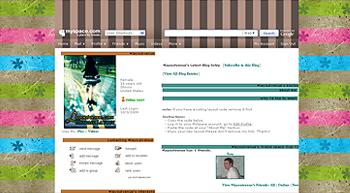 stripe cute asteric default myspace layouts