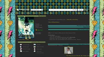 stripe diamond blue green default myspace layouts