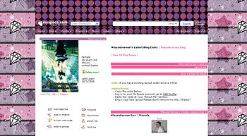 stripe diamond star default myspace layouts