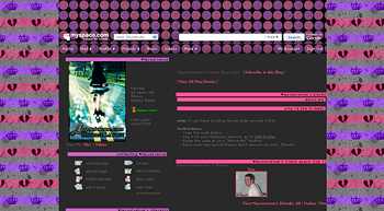 stripe flashy crown default myspace layouts