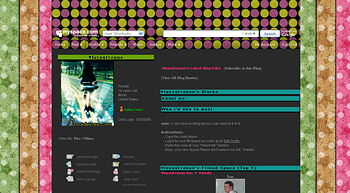 stripe polkadots default myspace layouts
