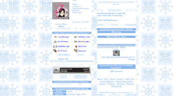 snowie christmas myspace layouts