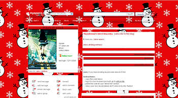 snowman myspace layouts