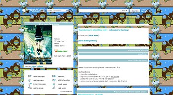 whimsical snowmen myspace layouts