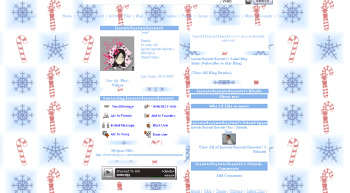 white christmas myspace layouts