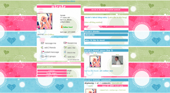cute stripe myspace layouts