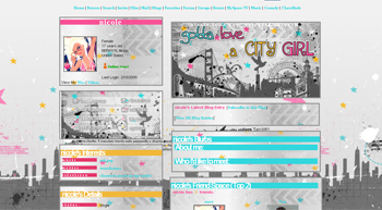 city girl myspace layouts